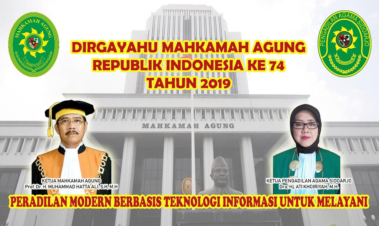 DIRGAHAYU MAHKAMAH AGUNG REPUBLIK INDONESIA KE-74